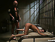 Tied Up Slim Flushing Brunette Gets Teased With Cloth Pins And F