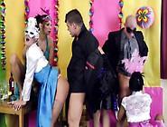 Peefetish Glamour Sluts Groupfuck During Party