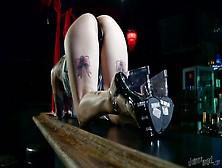 Bad Girl Masturbates On The Bar