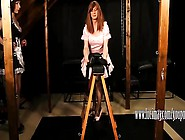 Kinky Tgirl Maid Luci May Has Fun Spanking Crossdressers Tight A