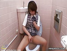 Hidden Camera Toilet Room Masturbation
