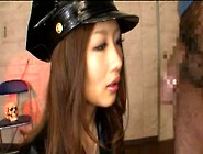 Japanese Police Woman Sucks Homeless Smegma Cock
