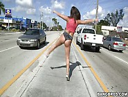 Abella Danger Provokes Drivers By Shaking Her Huge Ass