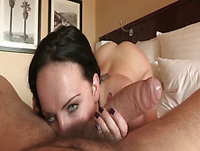 Hungry For Cock Brunette Takes A Hard Pounding In The Bedroom
