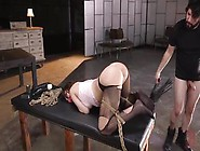 Naughty Brunette Sex Slave Jojo Kiss Gets Brutal Anal Session Bd