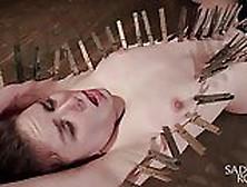 Brunette Hottie In Extreme Bondage!