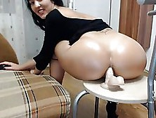 Big Ass Babe Is Riding Her Favorite Dildo In Front Of The Web Ca