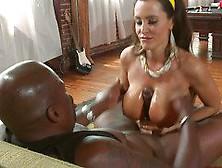 Black Monster Dick In Between The Boobs Of Lisa Ann