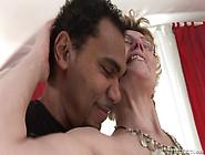 Horny Milf Does Professional Blowjob To Her Ebony Boss