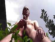 Huge Cum Shower Outdoor,  Naked,  In Public Garden - Amateur Solo
