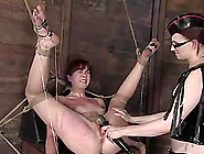 Submissive Claire Adams Gets Toyed And Fisted In Femdom Video