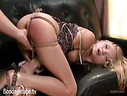 Dakota Skye Pushed Down While Hogtied