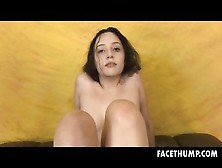 Brunette Becky Sins Getting Brutally Rough Face Fucking