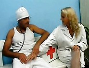 Horny Blonde Nurse Gets Fucked And Jizzed In Her Mouth In White