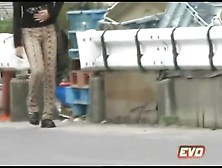 Asian Girl Pooping In Public