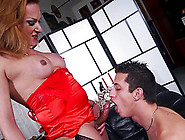 Lanky Guy Getting Fucked By Voluptuous Tranny Milena Ninfetta