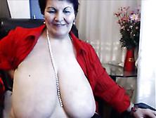 Mature Lazy Huge Breasted Brunette Milf In Nylon Stockings Finge