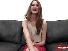 Brunette Pornstar Casting With Creampie