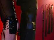 Dominatrix Pegging Chained Slave With Big Black Strapon Dominatr