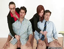 Strict Business Girls Do Cock Inspection