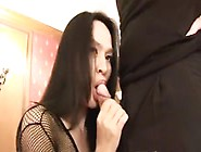 Young Thai Shemale In Body Fishnet Gets Fucked