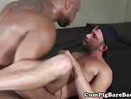 Cocksucked Interracial Bear Drills Ass Raw