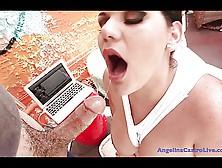 Angelina Castro Face Full Of Cum!