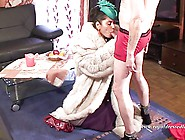 Elegant Fur Whore Fucking And Sucking A Cock In Stockings