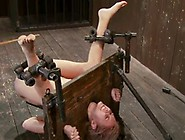 Katie Summers Has Her Vag Toyed While Being Chained In Pillory