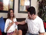 Nataly Rosa Fucks 3 White Men