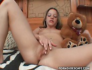 Teen Hugs Her Teddy Bear And Masturbates