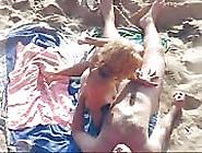 Horny Fucking Couple On Public Beach Caught By Voyeur Cam