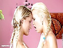 Beautiful Blondes Paula And Aloha Lesbian Fun In Loving Lappers
