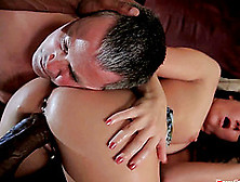 A Cuckolded Husband's Wife Fucks A Black Guy In Front Of Him