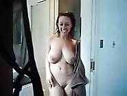 Busty Babe Steps Out Of Shower