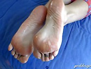 Goddess Grazi Takes Cum On Her Big Soles
