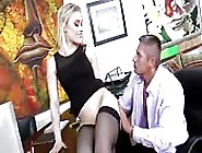 Blonde Boss Gets A Fuck