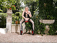 Hot Like Hell Blond Sweetie With Red Lips Performs Amazing Solo