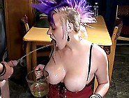 Dude Fiddles Dame's Pierced Nipples Getting Her In The Mood To A
