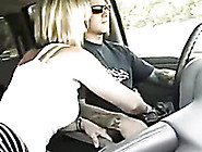 My Blonde Hot Wifey Stroking And Sucking My Cock In The Car