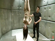 Tied Up Asian Sub Maeica Gets Fucked In Ass And Tortured With A