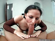 Caroline Pierce Sucks Cock In Braided Pigtails