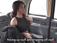 Ebony Babe Sucks White Dick And Gets Banged On Backseat