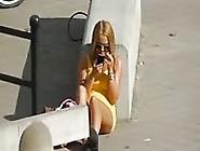 Blonde With A Miniskirt
