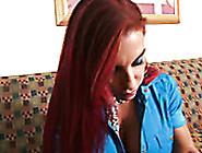 Extremely Sexy And Hot Red Head Helena Hughes Blows A Cock