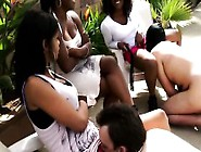 Submissive Slaves Eating Femdom Pussy