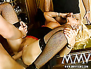 Two Young Brutal Guys Pound One Seductive Blond Milf Hard