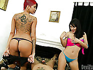 Sexy And Horny Nymphos With Hot Bodies Take Part In Threesome