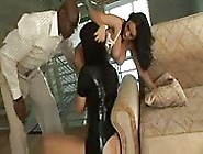Two Brunettes Fucked By A Black Man