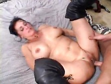 Nice Big Ass On Mature Slut In Leather Boots